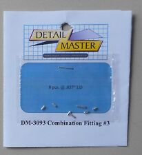 "COMBINATION FITTING #3 .032"" 1:24 1:25 DETAIL MASTER CAR MODEL ACCESSORY 3093"