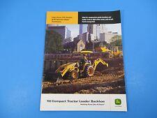Original John Deere Sales Brochure 110 Compact Tractor Loader Backhoe M1297