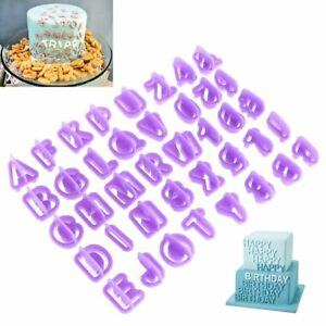 40pcs/Set Icing Cutter Mold Mould Alphabet Number Letter Fondant Cake Decorating