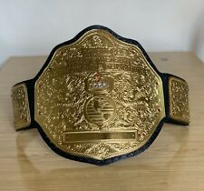 More details for world heavyweight big gold wrestling title replica belt 2mm with free t-shirt