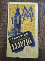 Stadtplan der Messestadt Leipzig 1:20000 Hrsg. Leipziger Messeamt 1953 MDI 902