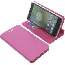 Tasche für Lenovo K6 Note Book-Style Schutz Hülle Handytasche Buch Pink