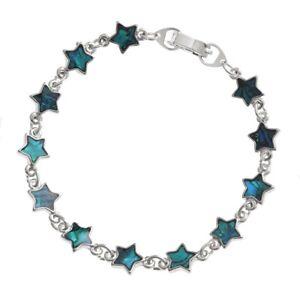 "Paua Abalone Shell Star Link Bracelet 7.5"" (19 cm)  - Gift Boxed"