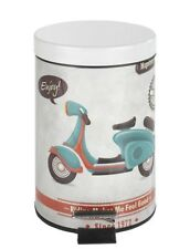 Wenko Vintage Retro Kosmetik Treteimer Mülleimer Abfalleimer Scooter 3 Liter