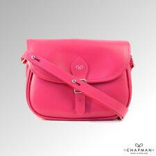 Chapman Bag Shoulder Bag Saddle Bag Leather Barbie Pink (NMS10SL)