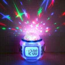 Sky Star Children Baby Room Night Light Projector Lamp Bedroom Alarm Music Clock