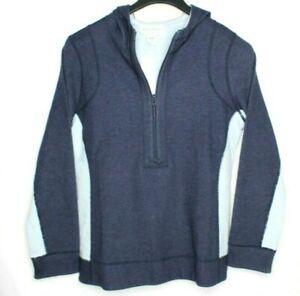 tommy bahama women's 1/2 zip flip side reversible hoodie size M Nwt