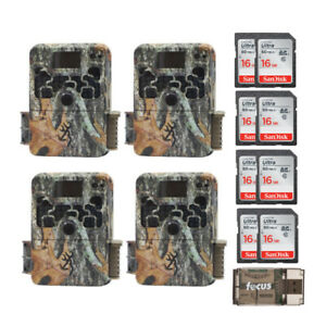 Browning Strike Force Extreme Game Camera (4) with 16GB Card (8) and Reader