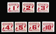 CANADA 1967 Postage Due SC# J21-J27 Carmine Rose MNH