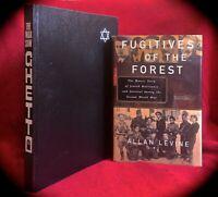JEWISH RESISTANCE TO THE HOLOCAUST 2 HC BOOKS ~ WORLD WAR II ~ WARSAW UPRISING+