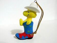 New ListingSnoopy Peanuts Determined Ceramic Christmas Ornament Figure Woodstock 1982