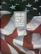 U.S. Post Office, 1989-90 - Definitive Mint Set of Stamps & Stationery (booklet)
