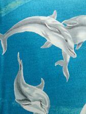 Dolphins -Quilting Fabric  .50cm = 2 fat quarters