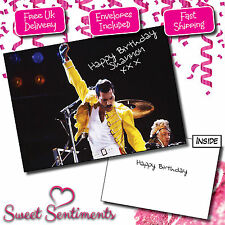 Personalised Freddie Mercury Queen Birthday Card A5 Large