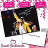 Personalised Freddie Mercury Queen Birthday Card A5 Large