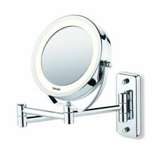 Beurer Illuminated Cosmetic Mirror BS59 Silver 360° Swivel Makeup 584.10