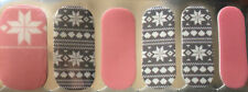 100% Nail Polish Strips/wrap!  Christmas  Snowflakes Pink Grey❄️🎄