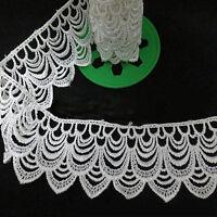 1-12Yard Lace Cream Ivory Edge Trim Ribbon Bridal Wedding Dress Sewing Craft DIY