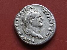 VESPASIAN. A.D.69-79, Silver Denarius.. Rev - Mars standing right.. gVF/VF