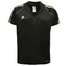 Adidas Fitness Hockey Black White 3 Stripe Womens Tee Top T-Shirt X13845 A41A