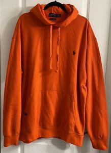 Polo Ralph Lauren Men's Performance Pullover Hoodie Sweatshirt Orange Size XLT