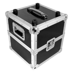 Zomo MP-100 By 2 Black Record Case Lp-Case Dj Vinyl Case 50/50 Division