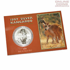 1997 Royal Australian Mint Uncirculated Specimen $1 Silver Frosted Coin - 1 oz