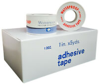 "Brand New Adhesive Waterproof Tape 1"" x 5 yards (6 Rolls) First Aid Only"