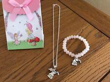 Children's Kids Girls Fairy Necklace & Crystal Bracelet Jewellery Gift Set