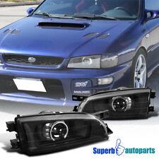 For 95-01 Subaru Impreza Black Retro Style Projector Headlights Head Lamps Pair