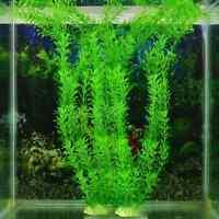 """Green Artificial Plastic Aquarium Plants Grass Ornament Fish Tank Decoration 13"""""""