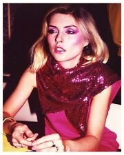 DEBBIE HARRY great early color candid portrait still - (a992)