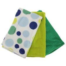 Polka Dot Pattern in microfibra Asciugamani Set Confezione da 3 (Taglia Unica Bianco/Blu/Verde)
