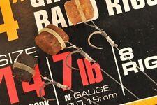 """Guru 4"""" QM1 Ready Tied Bait Band Method Feeder Rigs"""
