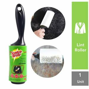 Indian Scotch-Brite Lint Roller with 30 Sheets,Black/White