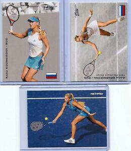 """3"" ANNA KOURNIKOVA 2003 ""1ST EVER PRINTED"" NETPRO ELITE ROOKIE CARD LOT!"