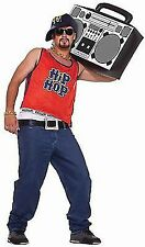 NEW Home boy Hip Hop 80s Men's Fancy Dress Costume one size fits up to Chest 42""