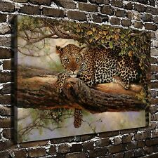 Tree Leopard Animal Paintings HD Print on Canvas Home Decor Wall Art Pictures
