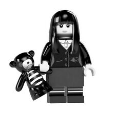 LEGO 6 WHITE minifigure figure Heads Head Spooky girl Ghost Halloween