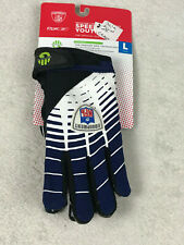Reebok Speed Grip Youth Receiver Running Back Football Gloves Large NEW