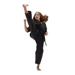 Macho Karate Uniform Gi Black w/ White Belt Tae Kwon Do