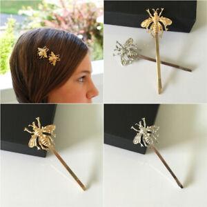 Girl Gold Bee Hairpins Side Clips Hair Accessory Metal Hair Barrettes Hair Decor