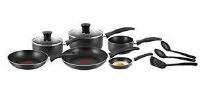 Tefal Easycare 9 Piece Non-Stick Cookware Saucepan Frypan Set Pots & Pans