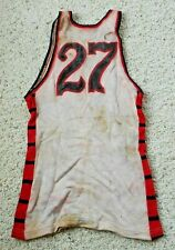 Vintage 1940s College Basketball Jersey Worn by #27 Red Black Sand Knit Tagging
