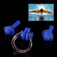 Neu Schwimmen Sport Nasenklammer und Ohrenstöpsel Ohrplug Nose ClipEar Plug Set