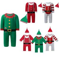 Newborn Baby Boys Girls Romper Christmas Costumes Outfits Long Sleeve Jumpsuit