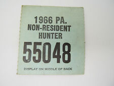 1967 Pa Non Resident Hunting License 55048