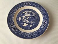 Vintage Willow Ware by Royal China Blue Willow Dinner Plate 9 1/8 FLAWS