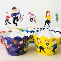 12x Wiggles Cupcake Wrapper & Topper Pick. Party Supplies Lolly Loot Bags Cake