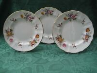 Royal Crown Derby Posies THREE Salad/ Lunch/ Dessert Plates First Quality 21 cm